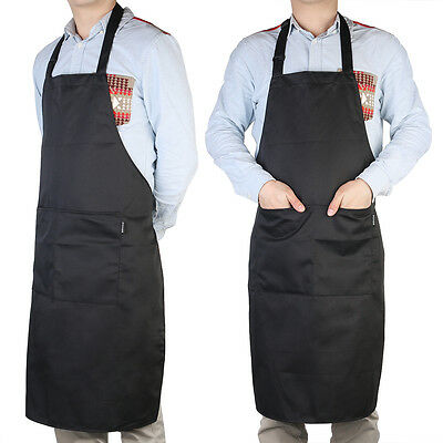 Kitchen Apron Bib Pocket For Chefs Butcher Cooking Craft Catering Baking Bar BBQ