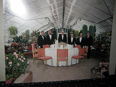 Photo of governor General Green house on Rideau hall with 6 footmen and table se