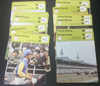 1977 Sportscaster HORSE RACING / JUMPING cards $0.99 ea