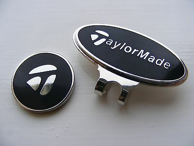 Taylormade magnetic golf ball marker with matching clip    (Black)    .35