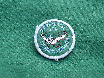 International S.T.A. Primary Swimmer Patch/Cloth Badge - Vintage Swimming Assoc