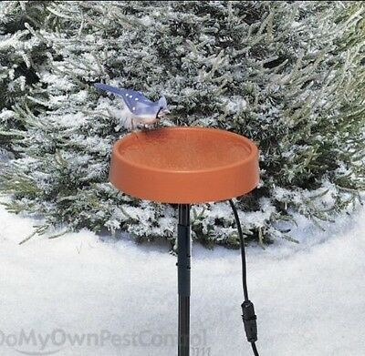 Allied Precision Heated Bird Bath with Metal Stand #400-Temp Controlled-Made USA