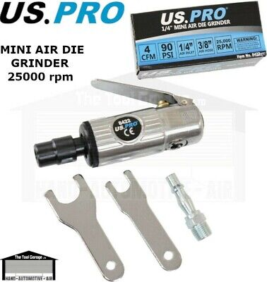 "US PRO / BERGEN Tools Mini Air Die Grinder, 1/4"" inlet NEW 8422, 8410"