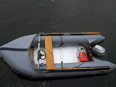 zodiac inflatable dingy boat&trailer