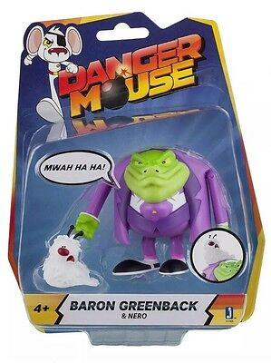 "UNOPENED ""Danger Mouse ""11163 3-Inch BARON GREENBACK!!Figure with Accessory"
