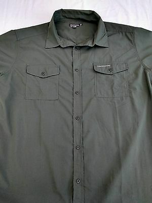 """Mens Craghoppers shirt XL chest 48"""" long sleeves Solardry olive green"""