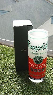 Sale 20% OFF NEW Hipster Campbell's Soup Crystal Vase Andy Warhol by Rosenthal