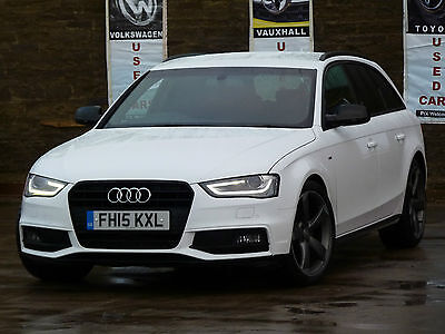 2015 Audi A4 Avant S Line Black Edition T 2.0 Diesel White Damaged Repaired