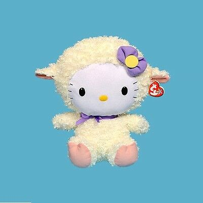"Ty HELLO KITTY LAMB SUIT Plush 12"" (Large) NEW NWT Stuffed Animal  Beanie"