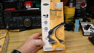 NEW  BELKIN 6 ft. All-in-one KVM Cable Kit F3X1962B06  6 FT  USB VGA