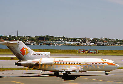 "National Airlines Boeing 727-35 N4612 ""Judy"" at LGA in 1978 8""x12"" Color Print"