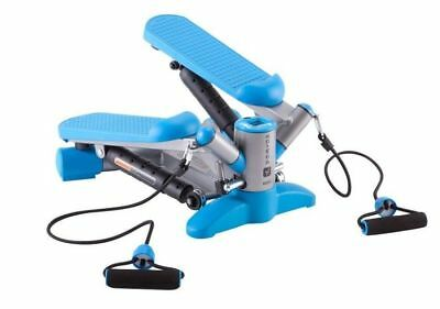 Swing Twister Fitness Stepper Resistance Home Exercise Gym Machine Cords Blue