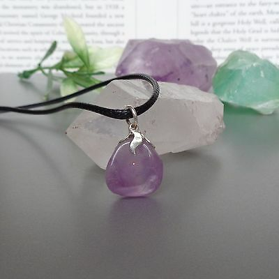 Amethyst Pendant - for Peace and Calm - Natural Healing Crystal Amulet Necklace