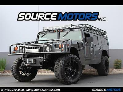 "2003 Hummer H1 Base Sport Utility 4-Door 2003 Hummer H1 Wagon, 22"" Fuel Wheels, Black Diamond Quilted Interior, Lifted"
