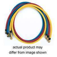 6' Yellow 1/2' ACME x 1/2' ACME R-124a Hose with Ball Valve