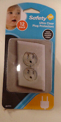 Safty Ultra Clear Plug Protectors-Child Resistant Rounded Edges