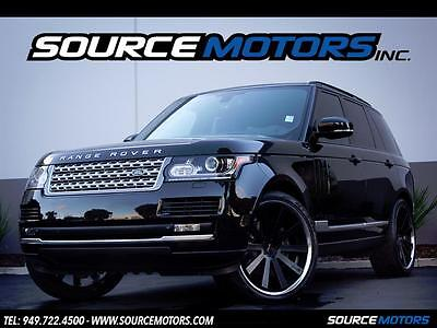 "2014 Land Rover Range Rover Supercharged Sport Utility 4-Door 2014 Land Rover Range Rover Supercharged V8, 24"" Giovanna Wheels"
