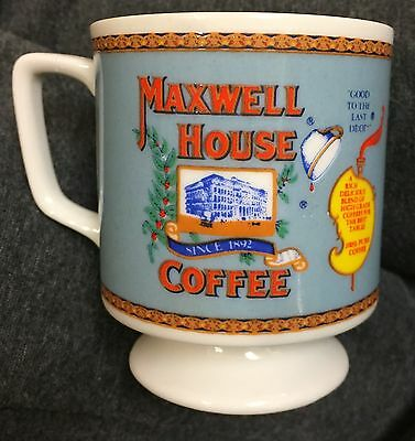 Vintage MAXWELL HOUSE  Advertising Footed Coffee Mug / Cup General Foods Corp