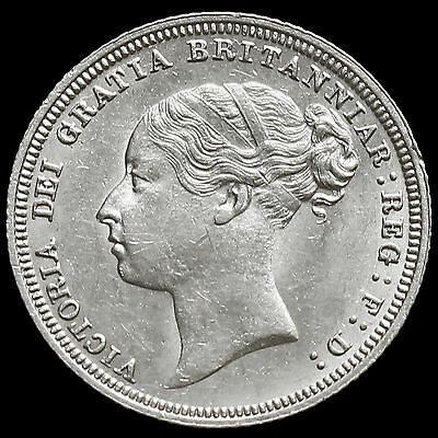 1881 Queen Victoria Young Head Silver Sixpence, Scarce, AU