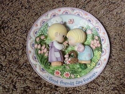 """Precious Moments """"Good Friends Are Forever"""" 3D Plate-Sam Butcher for Enesco"""