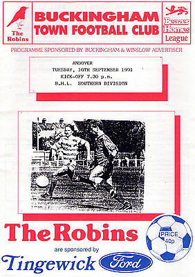 Buckingham Town v Andover - Beazer Homes League Southern Division - 10-09-91