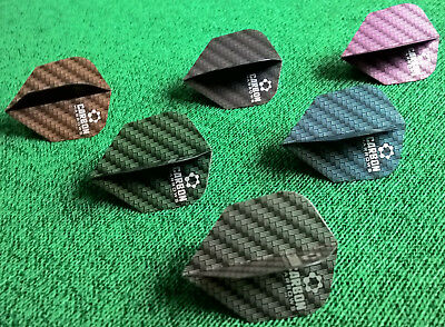 24 Harrows Carbon Dart Flights 8 Sets Schwarz