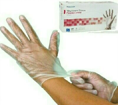 Sale》New 600 CLEAR VINYL EXAM GLOVES》Powder-Free》Non-Sterile》14-118》LARGE