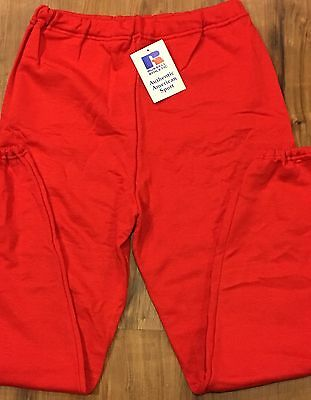 USA Vintage NOS RUSSELL ATHLETIC SWEATPANTS NWT Unisex RED Size XL