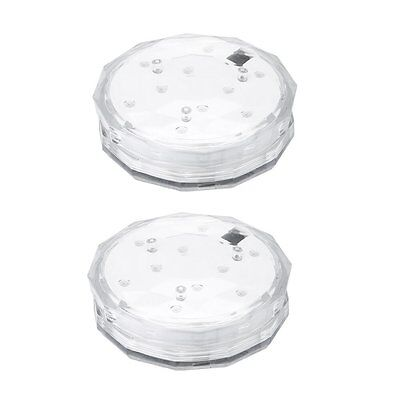 Submersible Lights, [Battery Powered]Pictek 2PCS 10-LED Waterproof Pool Lights