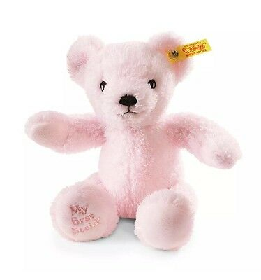 My First Steiff Bear Pink - New Baby - Christening Present