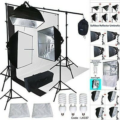 Linco Lincostore Studio Lighting 3 Point Light Backdrop Background Support with
