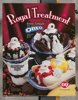 Dairy Queen Promotional Poster Oreo Royal Treatment dq2