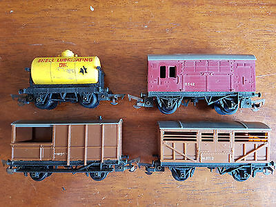 Tri-Ang Triang Freight Wagons As Shown X 4 Good Condition Unboxed Oo Gauge (Un)