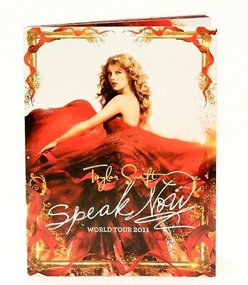 Taylor Swift Speak Now 2011 World Tour Book Program with Poster