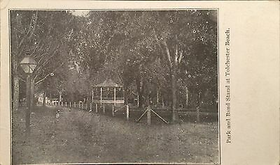 Undivided Back Old Postcard Park & Band Stand Tolchester Beach Maryland