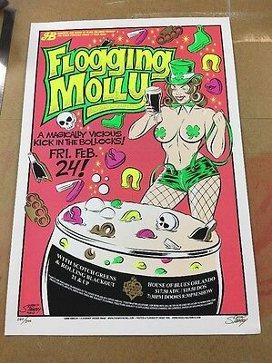 Flogging Molly  - Poster -  Orlando -Stainboy House Of Blues