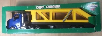 Collectible Chevron Cars Cary Carrier In Original Box Toy Truck Collectible