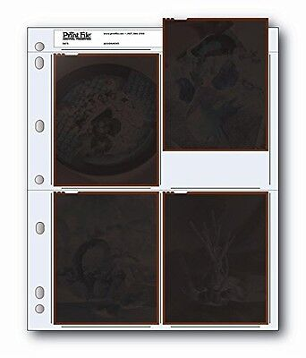 Print File Archival Negative Pages Holds Four 4 x 5 Inches Negatives or