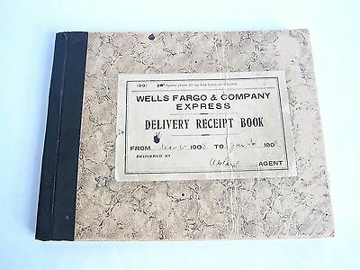 Rare Antique Western Bank 1908 Wells Fargo & Co Express Delivery Receipt Book
