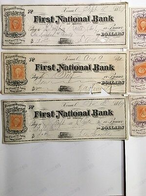 Six National Bank Of Xenia Ohio Picturing Railroad Train