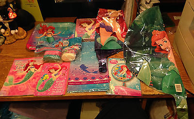Little Mermaid Ariel Birthday Party Supplies Balloons Cards Streamers /real Pics