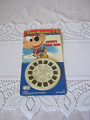 View Master 3 reels Mickey Mouse World Tour Never used sealed 1991 Vintage