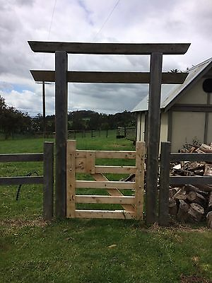 Timber farm Style Gate 900mm - 1500mm Wide