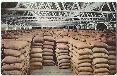 Worlds Largest Wheat Warehouse Antique Postcard Divided Back