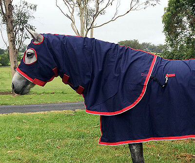Horse Champion Cotton Show Set - Navy Size 6'0 (Rug, hood and tail bag)