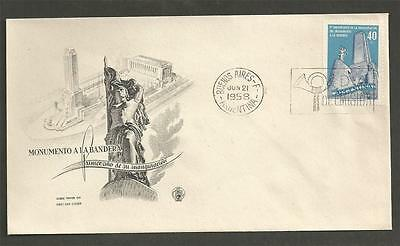 ARGENTINA -1958 The 1st Anniversary  of the National Flag Monument - F.D.COVER.