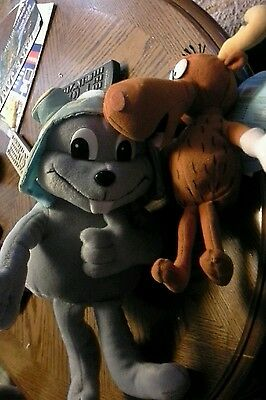 "Rocky & Bullwinkle J. Moose CVS Stuffins "" Plush 2000 Stuffed Toy Limited lot"