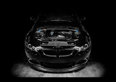 Bmw M3 Black New A3 Canvas Giclee Art Print Poster