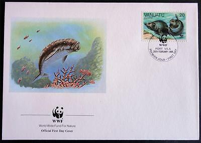 Vanuatu 1988 'Dugong' WWF Official First Day Cover (FDC) #1