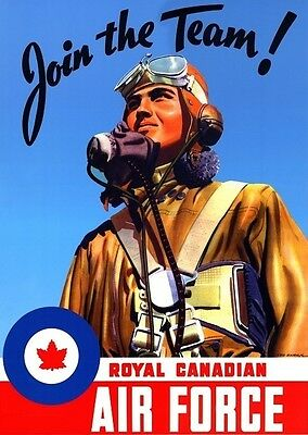 Canadian RCAF 75th anniversary repro wartime RECRUITMENT POSTER